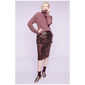 Halogen Pailette Sequin Pencil Skirt